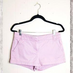 J. Crew Lavender Chino Shorts